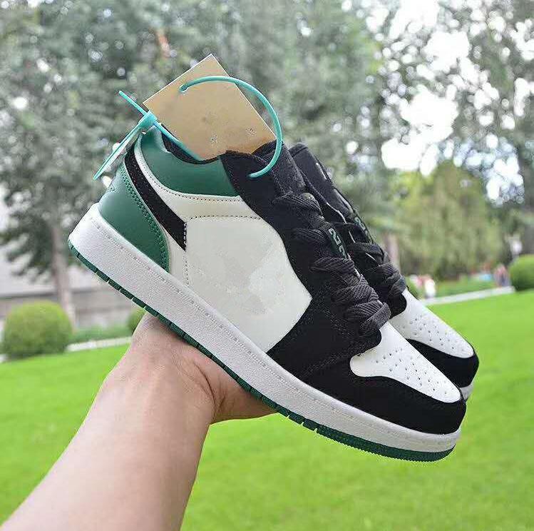 2020 Classic Sapatos Esportivos Casuais para Homens Mulheres Low Top Couro Sneaker Trainers Moda 1S OG Homens Mulheres Skateboarding Shoes 36-44