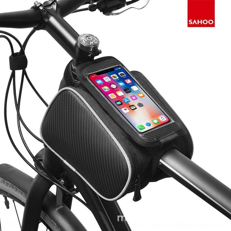 Nuevo tubo de montar a prueba de agua de montaña teléfono móvil del bolso del teléfono móvil bolsa de viga frontal bici bicicleta bicicletas
