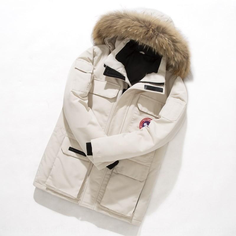 NXRGr caliente al aire libre estilo canadiense ropa de trabajo de Nueva caliente abajo chaqueta de la moda capa de los hombres chaqueta de invierno corto engrosado de los hombres de