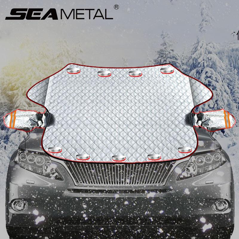 Car Accessories Auto Windscreen Cover Car Window Screen Covers Magnetic Frost Ice Large Snow Dust Shield Protector Sunshades