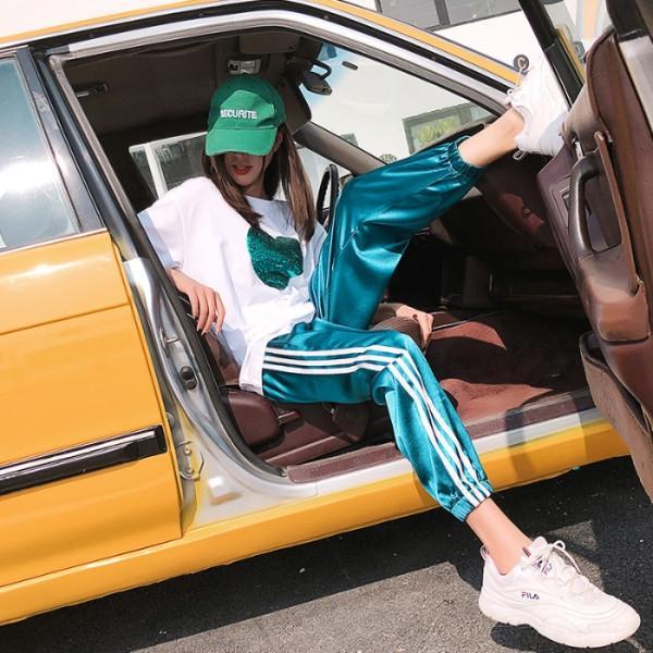 zphZW sport casuali delle donne di sport pezzi estate pezzo di svago set hip hop sciolto street fashion 2019 nuova moda sapore straniero da pa età