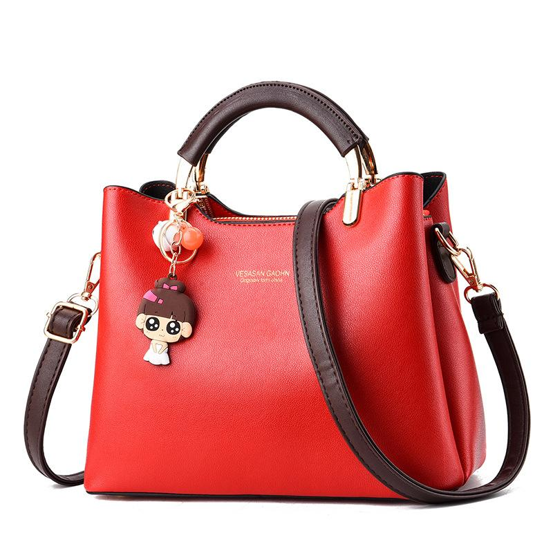 2020 nueva bolsa de la moda coreana bolsa de mensajero solo hombro 100% color de moda pequeño bolso ocasional