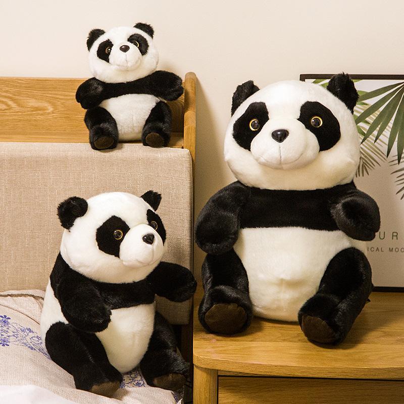 Linda de la panda de peluche de dibujos animados de animales de simulación juguete decoración oso de la felpa Muñeca china en casa los niños acompañan a dormir muñeca de niña regalo de cumpleaños