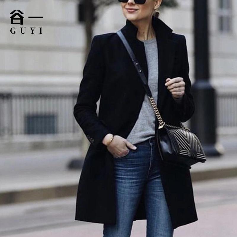 CxnZ4 Gu Yi neue Frauen warmer Mantel-Mantels Art und Weise der Normallackfrauen der Frauen für Mantel warmen