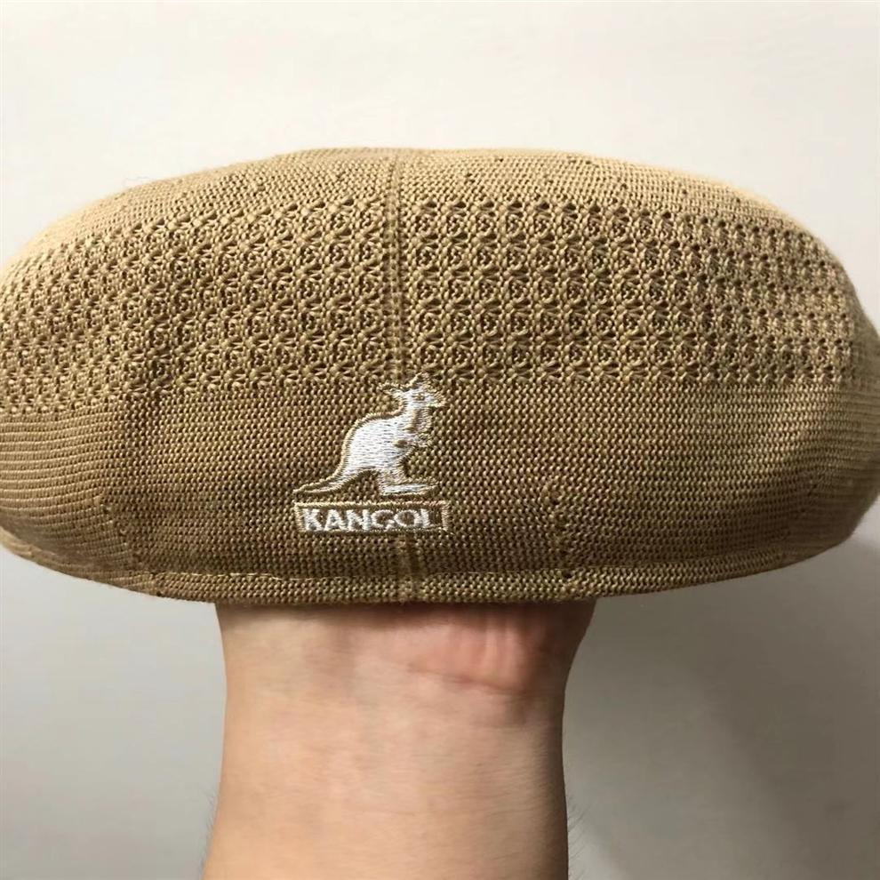elegante sombrero de la boina del fuego de los hombres y de las mujeres de Super Qg9KI todo-fósforo kangol boina de malla de poliéster canguro casquillo ins mismo estilo