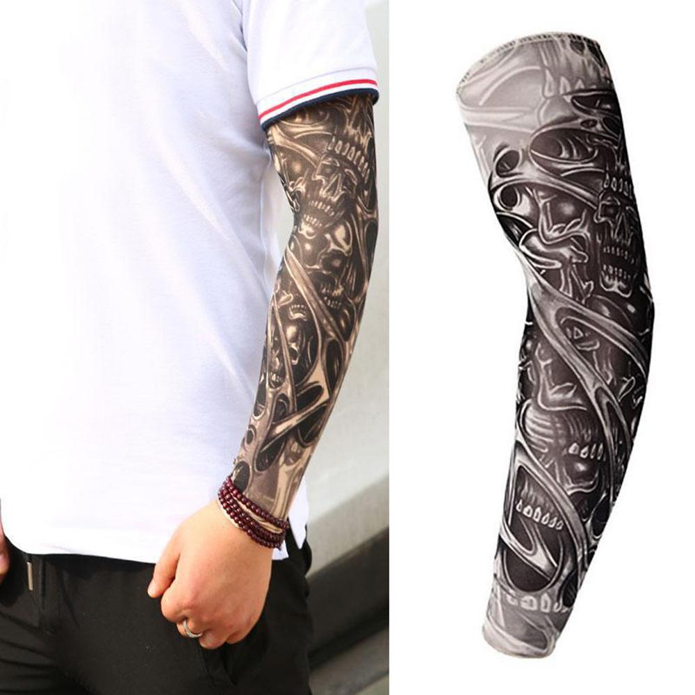 Breathable 3D Tattoo UV Protection Arm Sleeve Arm Warmers Cycling Sun Protective Covers Quick Dry Summer Cooling Sleeves