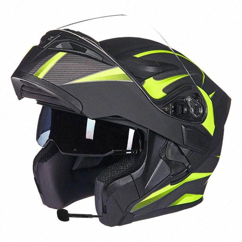 GXT Doppelobjektiv Lepine Motorradhelm Vollabdeckung hochklappen Motorradhelme wiht Anti-Fog-Objektiv Jahreszeiten Capacete O9wV #