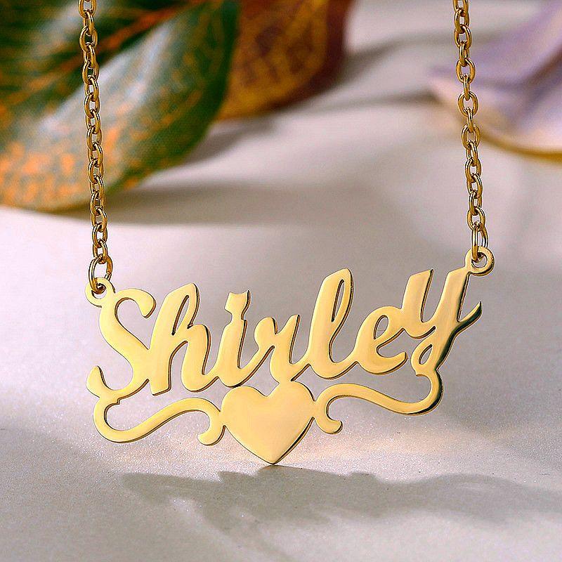 Le donne in acciaio inox Choker collana nome Gioielli personalizzati a mano Ciondolo Targhetta collane Best Friend Gifts