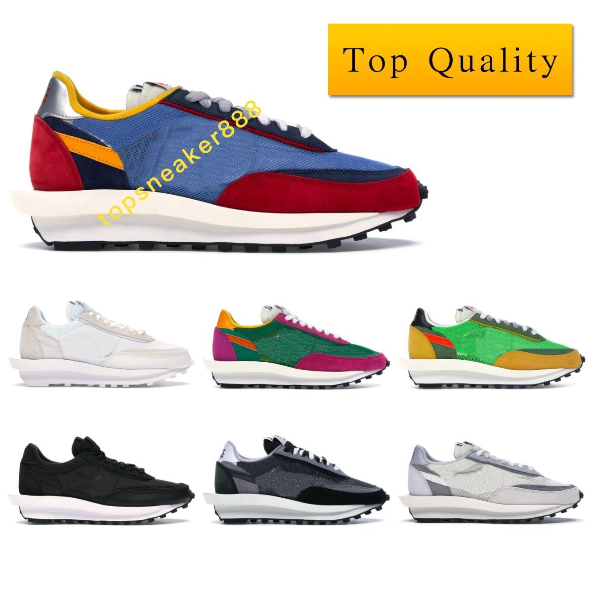 أحذية أعلى جودة LD رياضة الأبيض النايلون النايلون الأسود مان مش أحذية نسائية السببية مع صندوق حجم 36-46