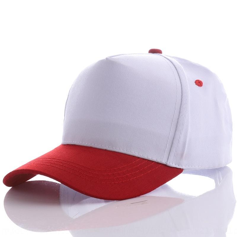 Чистый хлопок бейсбол бейсбол шляпы Вышитая шляпа вышивка реклама крышка сплошной цвет колпачок