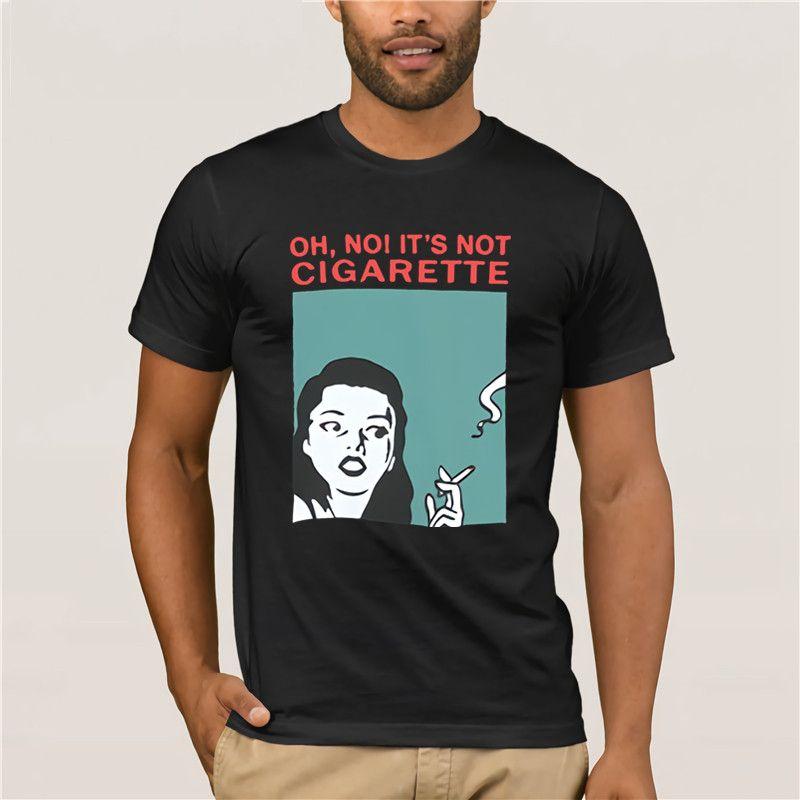 Camiseta para la camiseta Men Cool Carta de Corea Retrato fumadores Oh no, no lo cigarrillo rojo verano Oneck flojo de los hombres Impreso