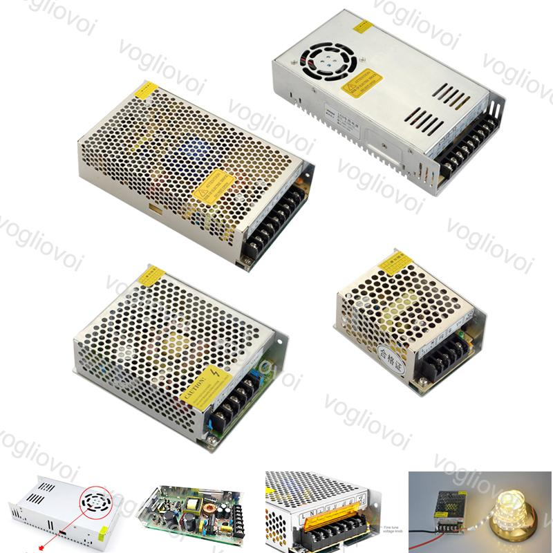 Lighting Transformers Interruptor Driver Saída DC24V 240W 360W 500W 110-240V Acessórios de alumínio para tiras LED Módulos de luz DHL