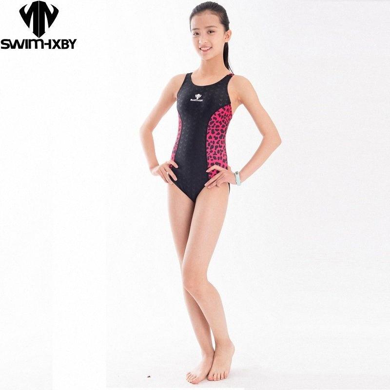HXBY 2019 Neue Mädchen Badebekleidung Rennkinder Einteil Frauen Badeanzüge enge Mädchen Badeanzüge für den Wettbewerb Racing Swimwear 47mf #
