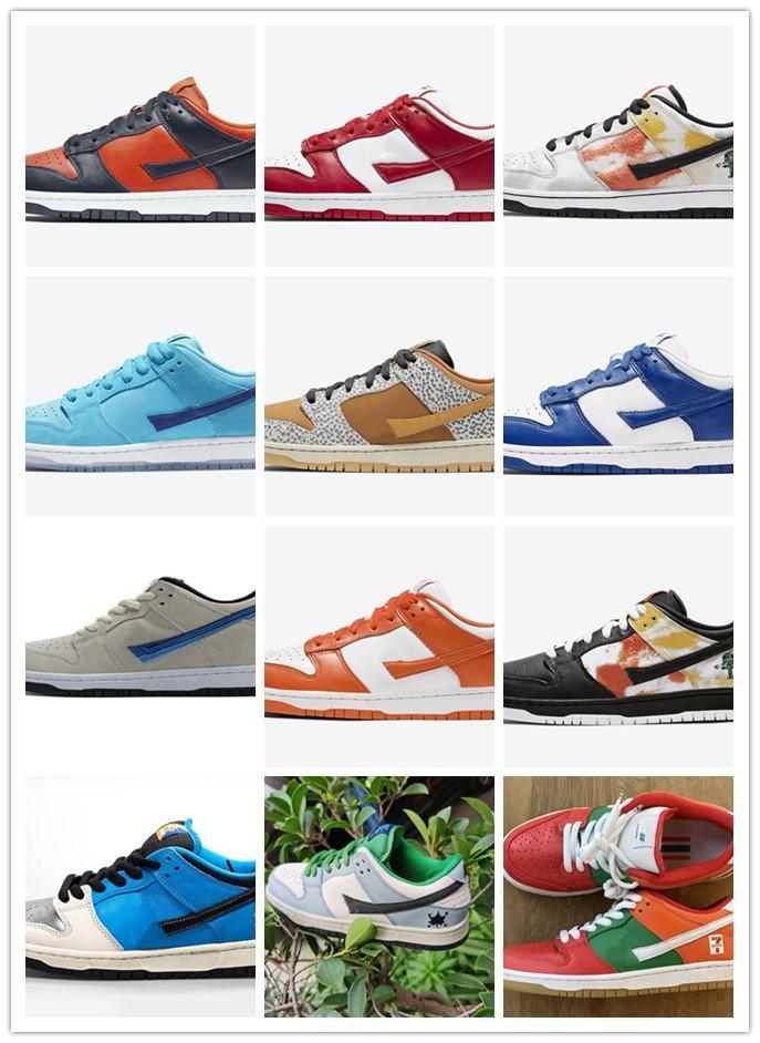 Nuove 2020 Low Raygun tie-dye Safari Blue Fury Champ Colori Moda scarpe da corsa per Serie Donne, uomini Retro Low Top Casual Shoes Skateboard