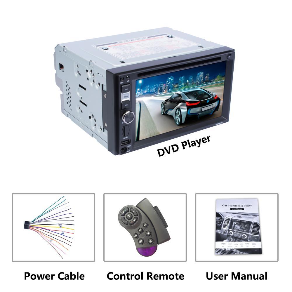 FREESHIPPING سيارة مشغل دي في دي 6.2 شاشة راديو السيارة دعم بلوتوث FM USB 2.0 التوجيه يد عجلة التحكم عن بعد مكالمات مجانية Autoradio