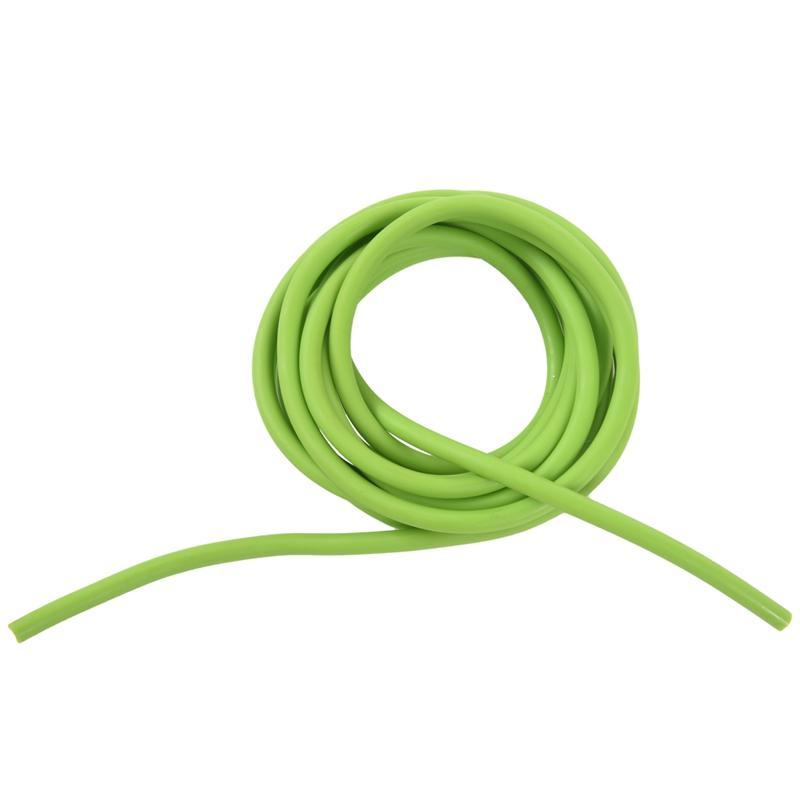 튜브 운동 고무 저항 밴드 투석기 더빙 새총 탄성, 녹색 2.5M