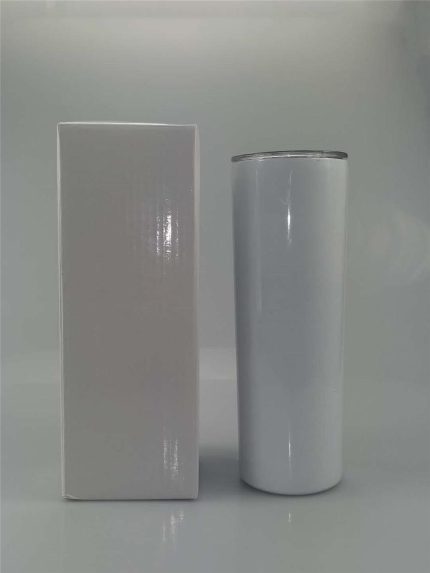 Sublimazione Magro Tumblers 20 oz in acciaio inox Bicchieri isolato tazza di caffè a doppia parete vuoto bere tazza diritta Flask A0