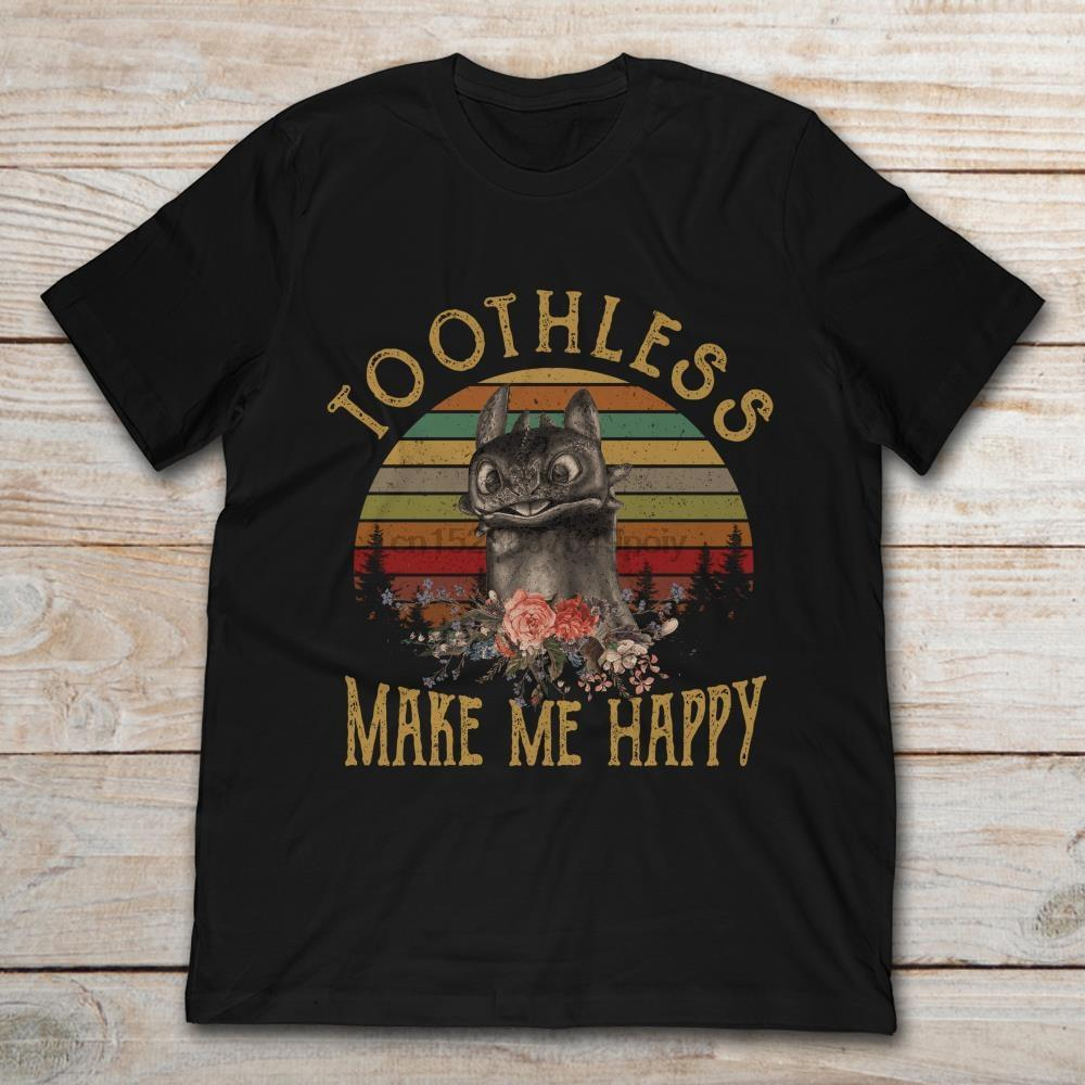Édenté me rendent heureux T-shirt vintage