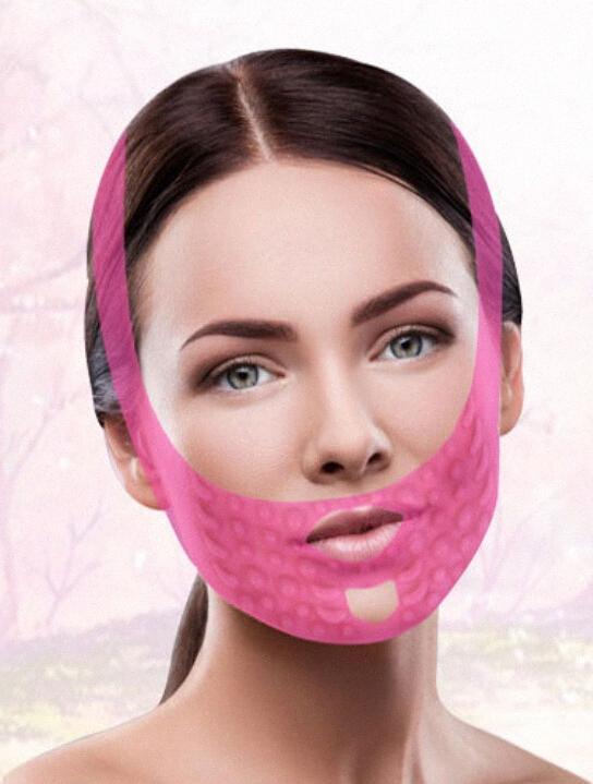 Pneu Compact massage facial Bandage amélioration Motif juridique Forme Petit V Double Face menton Retrait masque Masager Traitements pour le visage F LHjC #