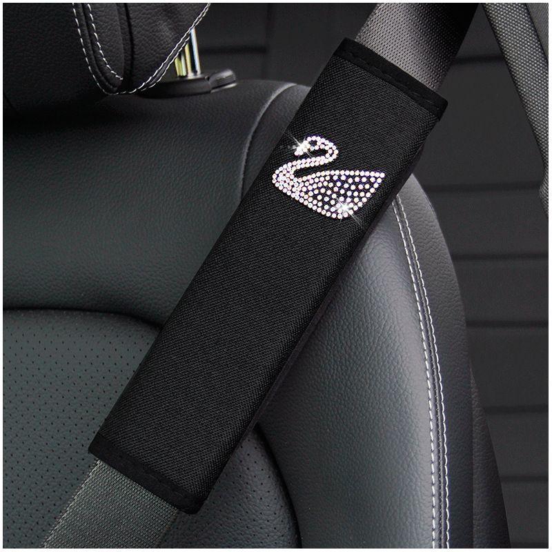 yeni yaratıcı elmas kaplı kuğu araba emniyet kemeri omuz kapak koruyucu kapak emniyet kemerleri birden çok renk mevcuttur