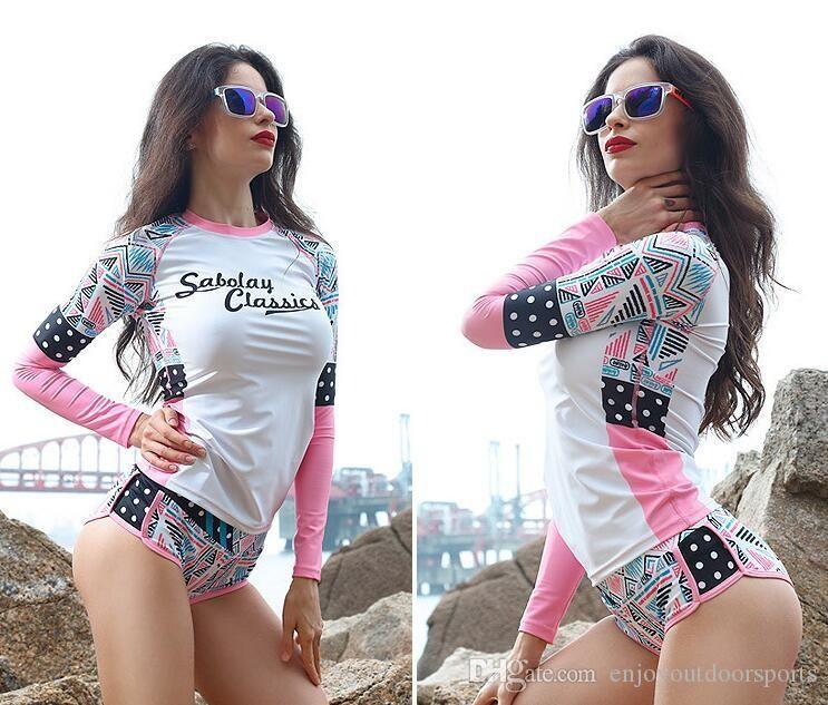 Femmes Wetsuit Imprimer couture Équipement de plongée Surf Jellyfish Vêtements à manches longues pour la plongée sous-marine Plongée Surf en Femmes Taille M-3XL
