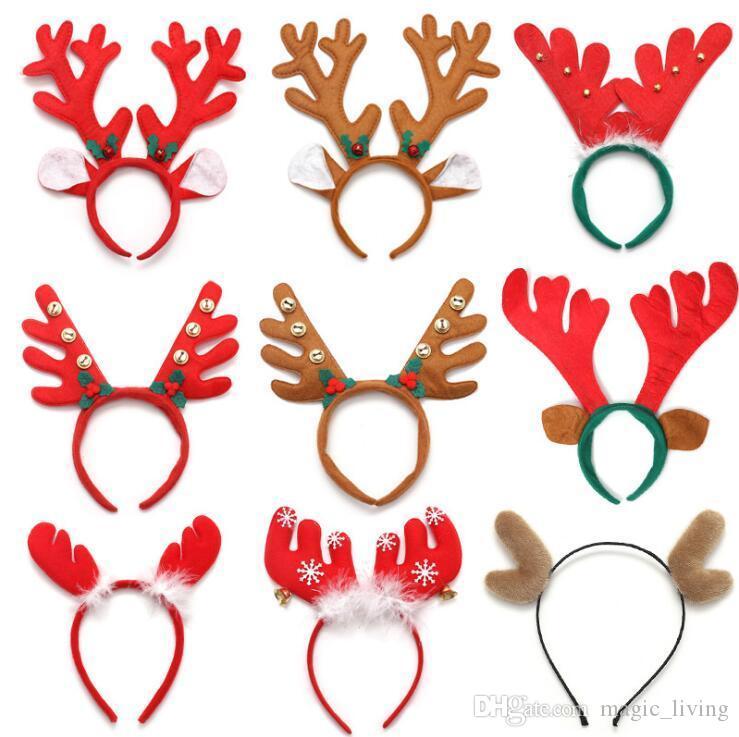 Reindeer Antlers Headband Christmas Easter Halloween Party DIY Women Girs Kid Deer Ear Party Hairband Wedding Jewelry Gift 212