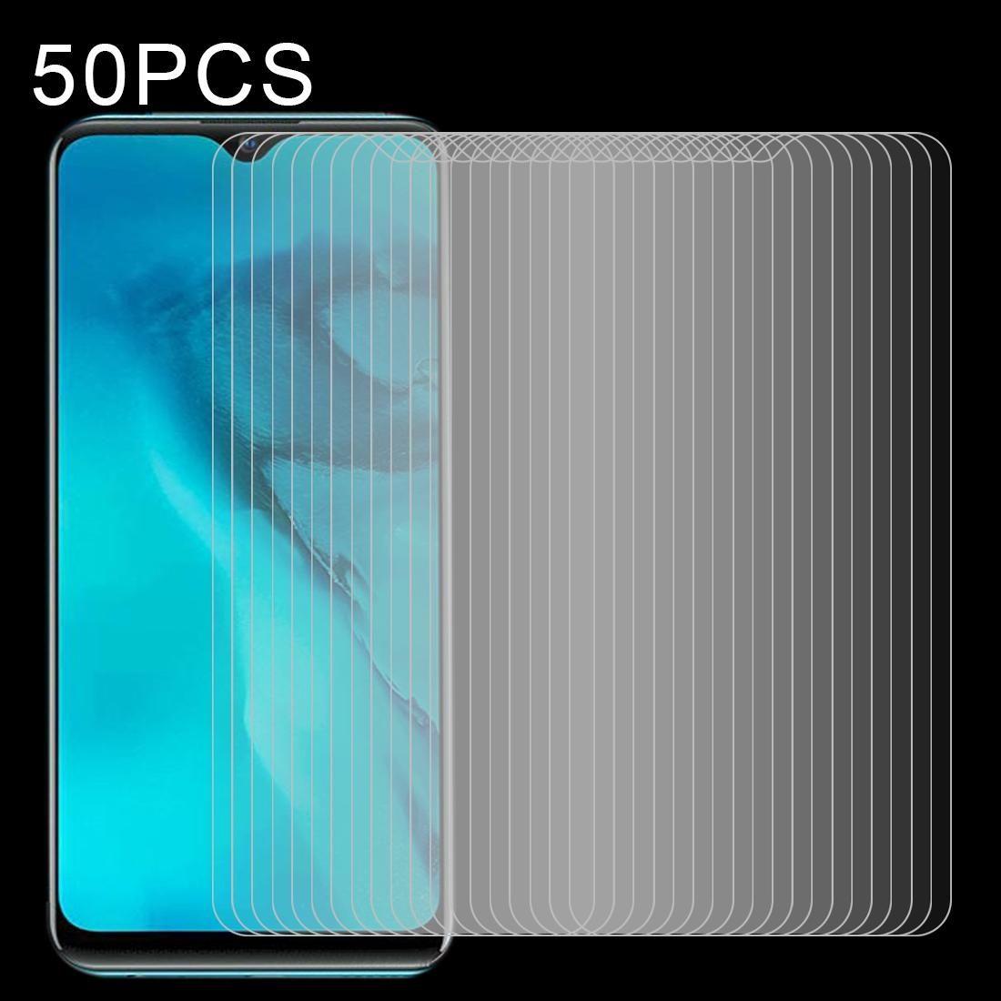 9H superfície Dureza 2.5D à prova de explosão 50 PCS 0,26 mm de vidro temperado Não completa Tela Film Para Vivo Y11