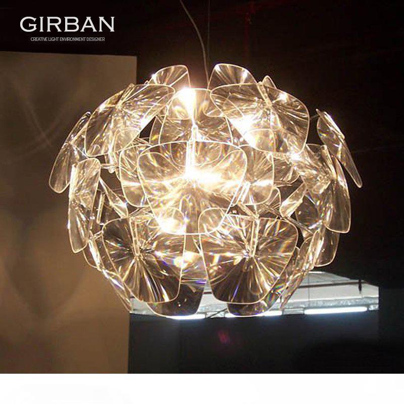 Moderna laser di Apple lampadario in acrilico trasparente Lampadario Illuminazione Soggiorno Camera da letto Sala da pranzo luci di Apple della lampada