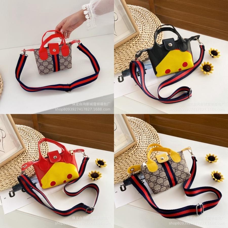 Bambini Shoulder Bag Mini Dog Ear Messenger Borse Semplice di cuoio quadrato del sacchetto dei capretti dell'unità di elaborazione di Crossbody della borsa della Principessa sveglia Borse # 101