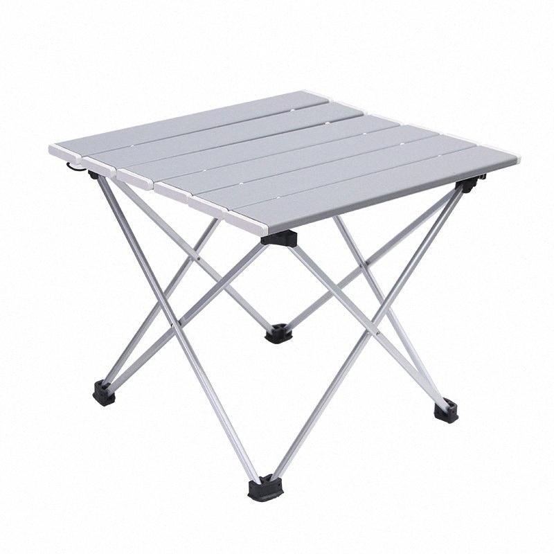 Outdoor Aluminum Folding Table Camping Portable Barbecue Table Portable Multi Function Ultra Light Mini Picnic U4s4#