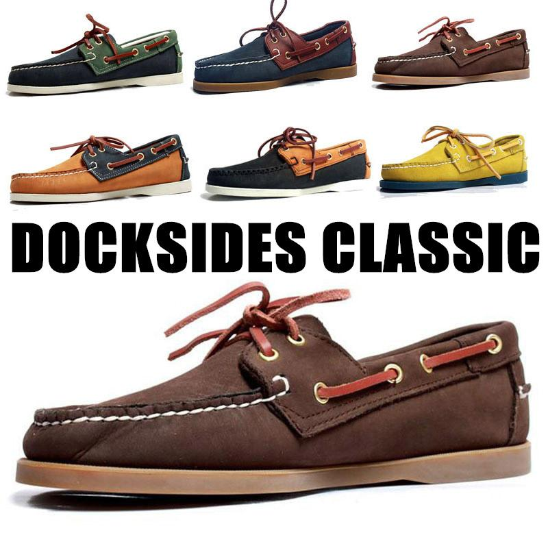 Männer Frauen Spinnaker echte Nubukleder Docksides Klassische Loafers Boot-Schuhe für Homme Femme Hombre Y076