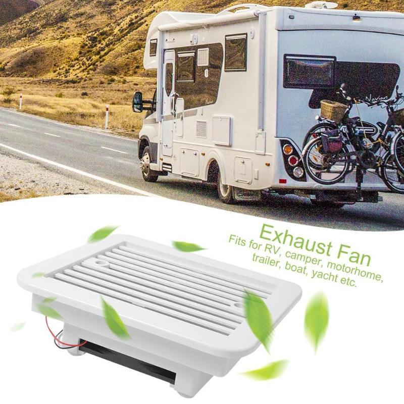 12V RV Caravan Motorhome Side Air Vent Ventilation Air Fan Waterproof