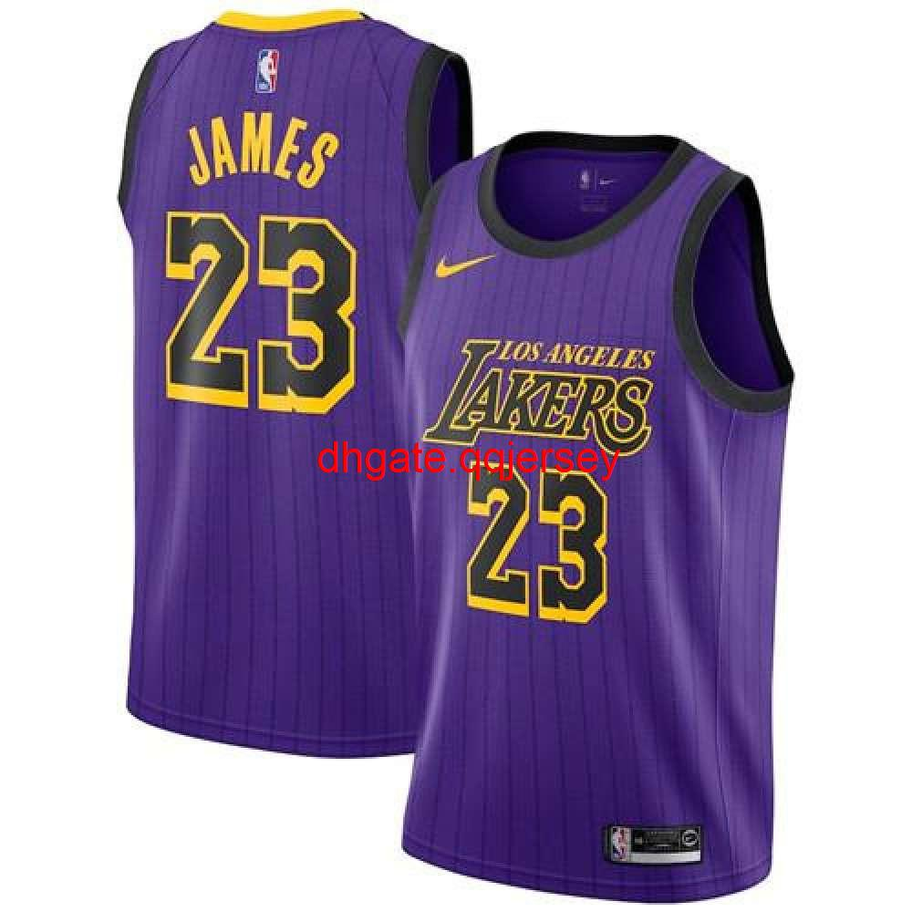 New Nnd TopArrival Match Suit Basketball Clothes Clothes Star Style Men Classic Big SizeLeBron James #23 Purple 2019-Jersey