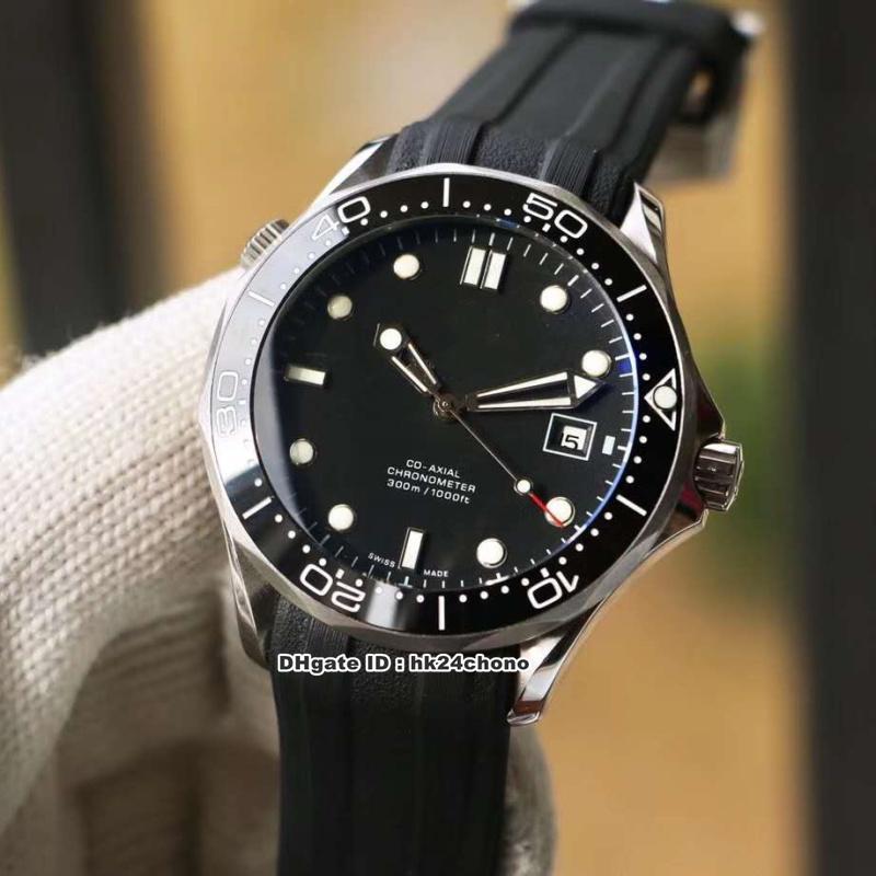 3 Estilos Diver 300M de acero inoxidable mecánico automático del reloj para hombre Azul / Negro / Blanco Dial correa de caucho caballero relojes deportivos