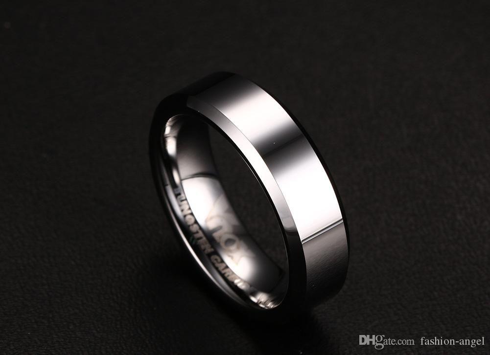 H167 Valentinstag Geschenk- Männer Wolframcarbid Ring einfache Ringe Hand Schmuck Fingerringe Mischauftrag Juwelen Quelle Fabrik suppl