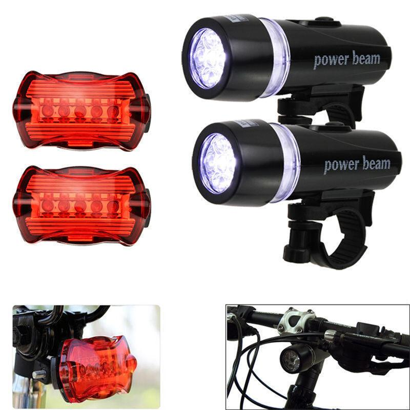 Waterproof Bicycle Front Back Light Set Tail light Road MTB Rear Lamps