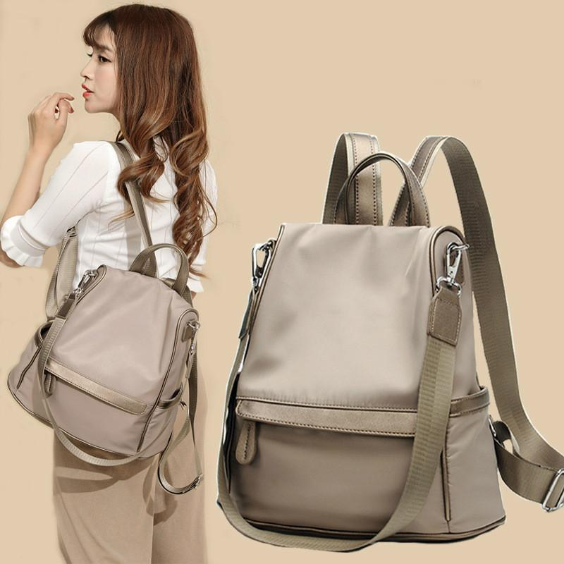 Anti-theft backpack ladies 2020 autumn new Korean version wild large capacity Oxford cloth backpack casual travel bag wholesale