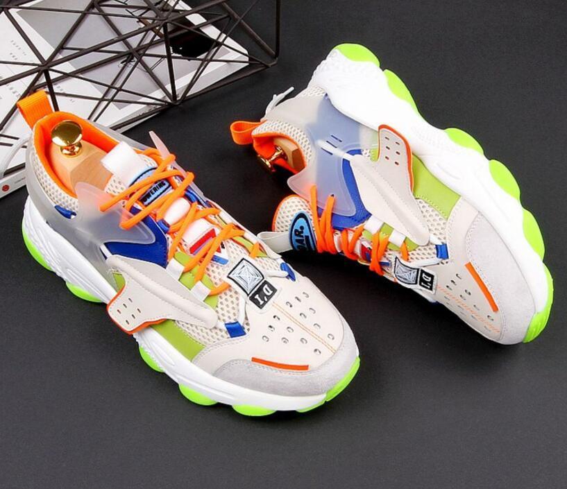 Новые мужские дизайнер цвет Лоскутная дышащий вскользь ботинки Британский толстые нижние кроссовки молодой студент туристических Shoes Zapatos HOMBRE