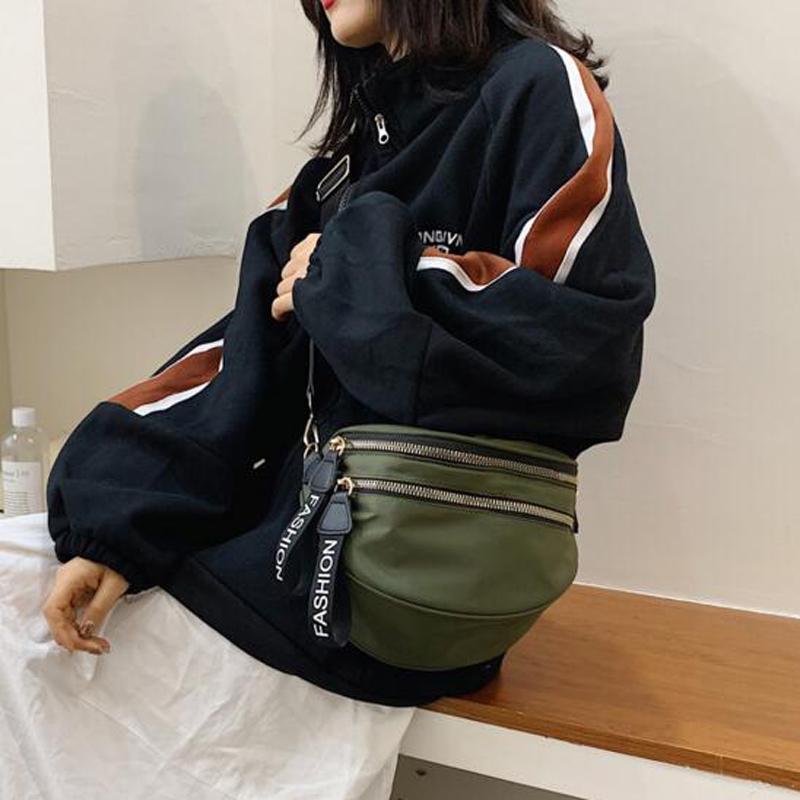 Kadınlar Messenger Çanta Göğüs Çanta Kadın Spor Naylon Crossbody Çoklu Aralığı Bayanlar Omuz