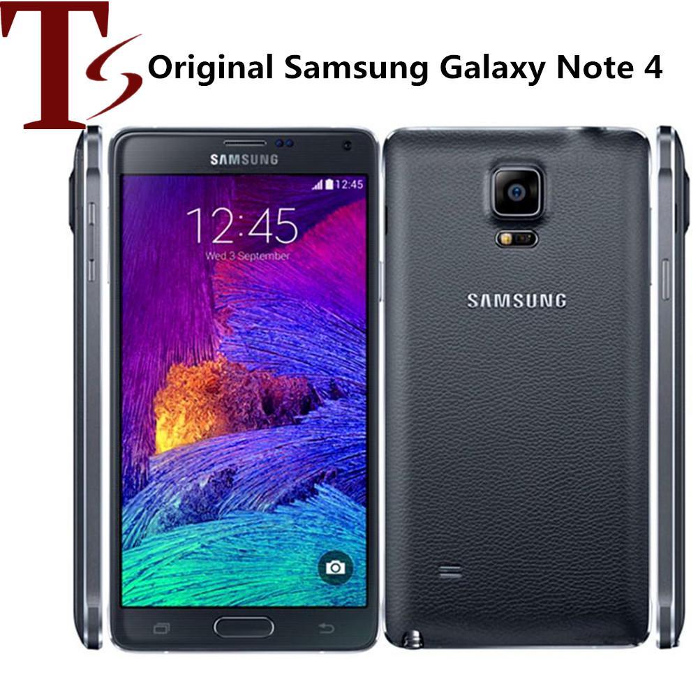 Оригинальный Samsung Galaxy Note 4 N910F N910A N910V N910T 5,7 дюймов Quad Core 3GB RAM 32GB ROM 4G LTE отремонтированный смартфон