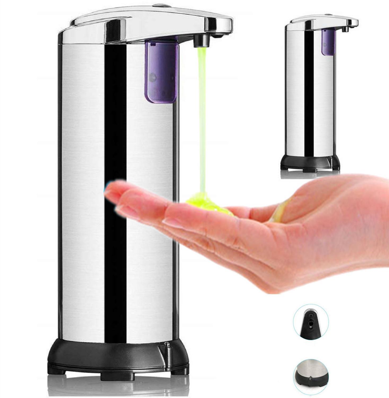 Dispensador de jabón líquido automático de acero inoxidable infrarrojo de infrarrojos para desinfectante de hand libre de infrarrojos para detergente Electroplate Dispensador de inducción inteligente