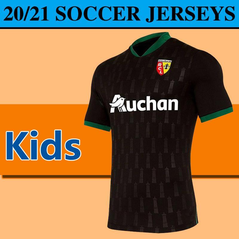 2020 Ligue 1 RC Lens çocuklar Futbol Formalar sadece Formalar 20/21 RC Lens çocuk erkek gençliğin formaları Sotoca çocuk Tişörtleri