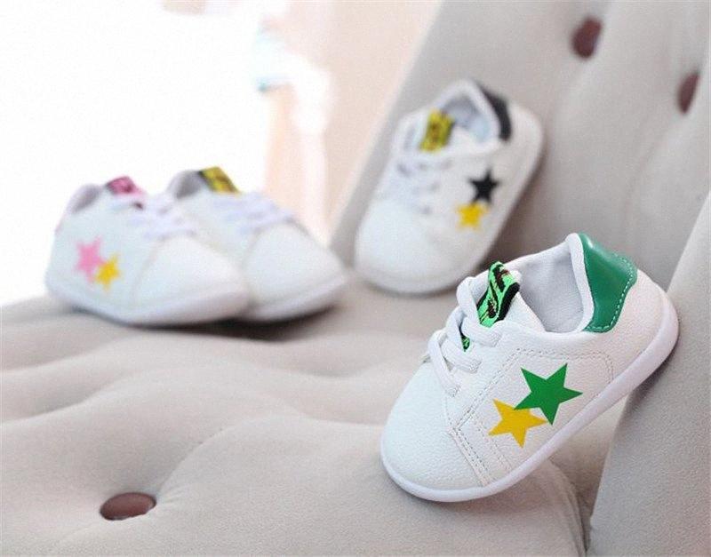 Infantis Boy Girl macia Sole Crib Shoes Sneaker Verão da criança do bebê infantis Moda Primavera Autunn Crianças Prewalker Crib Shoes 6 20M Meninas Bl 2smp #