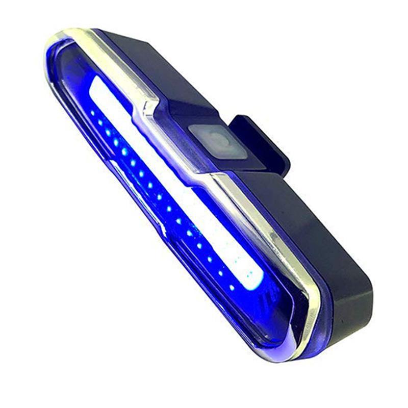 Cauda LED Bike Light Red azul USB recarregável Luz de emergência Multipurpose impermeável Super Bright