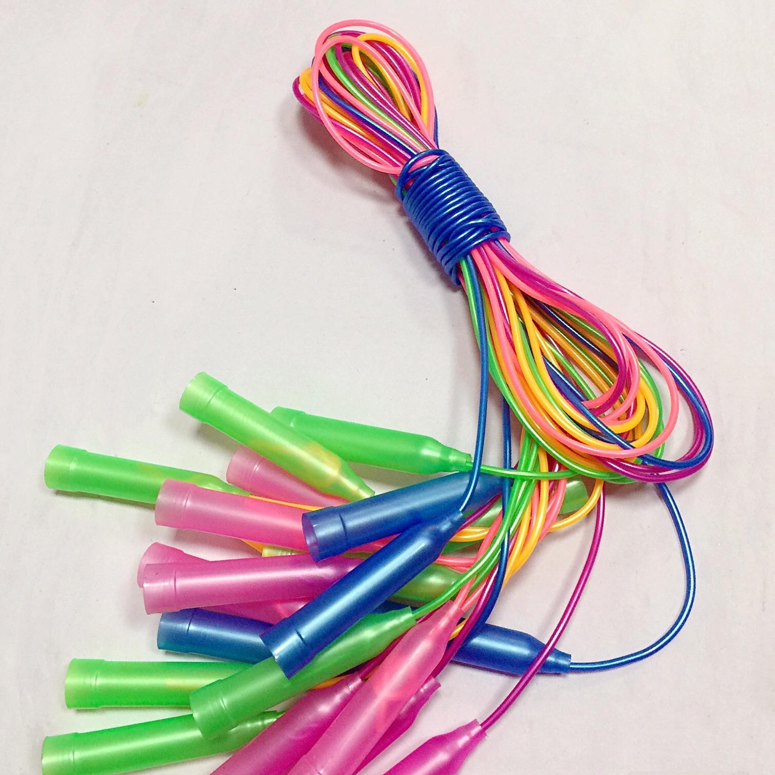 KSv2u plastique coloré couleur sports étudiants pour enfants articles de sport sportif corde à sauter corde à sauter poignée en plastique uSmeN sport étudiant