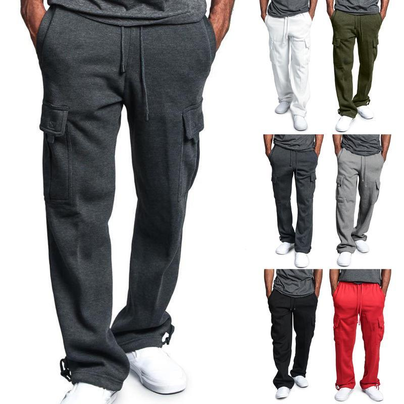 Free Shipping Men Casual Loose Running Pants Sports Workout Fitness Drawstring Trousers Joggers Pants Sportswear Plus Size M-4XL
