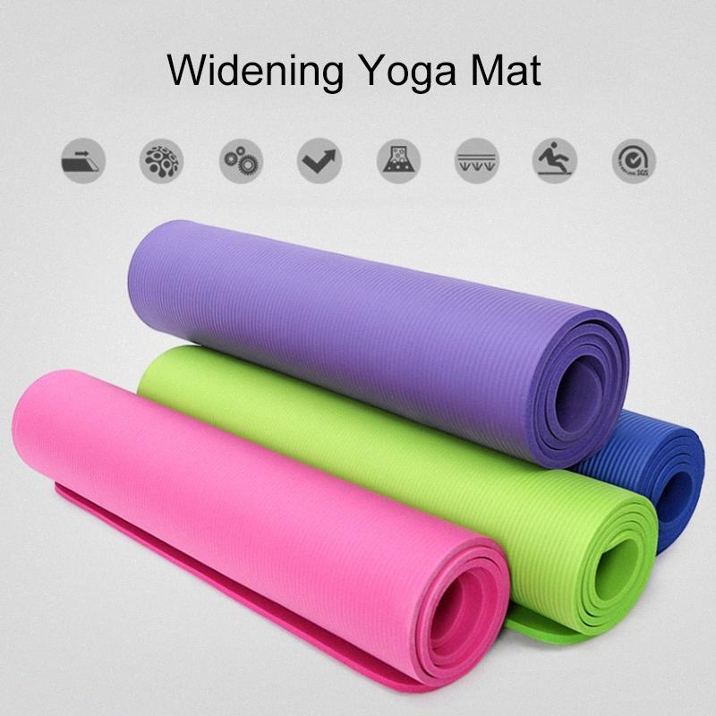 Kayış Mesh Çanta 10mm BHD2 XOaH # ile Fitnes Pilates egzersizleri için Kalınlaşmak Yoga Minderi Kaymaz Spor Pad