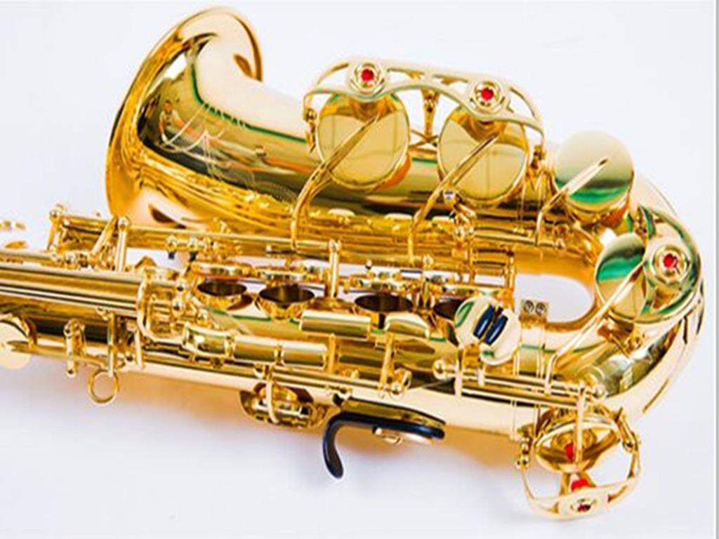 Sassofono dell'Alto professionale YAS-857ex, YAS-62 Gold Key Super Musical Strument Musical di alta qualità Elettroforetico Gold Sax Buthpiece Custodia rigida