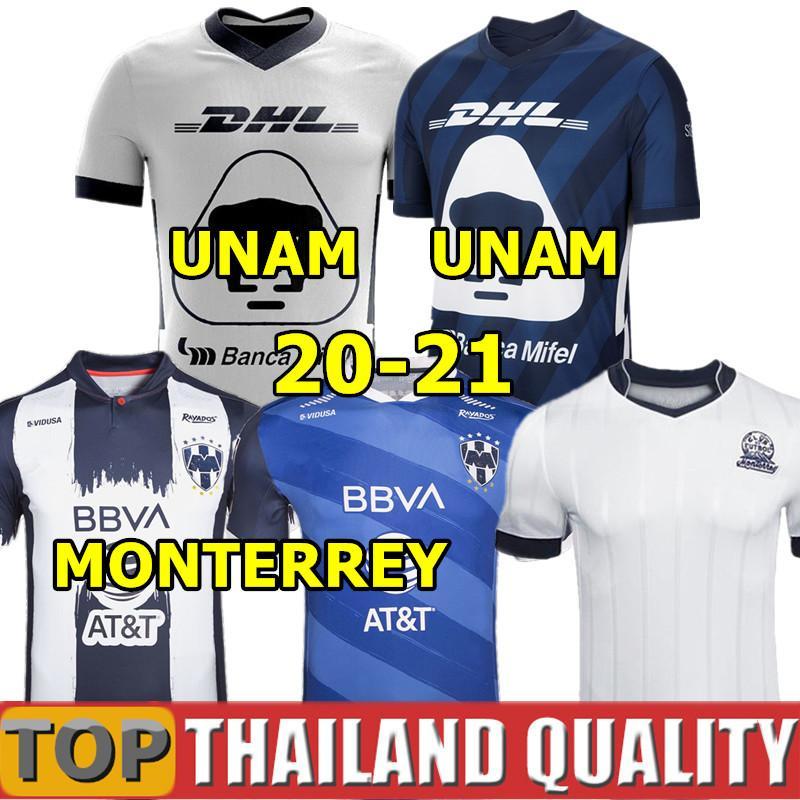 20 21 Clube MX PUMAS UNAM terceiro camisetas de futebol GUERRON 2020 CALDERON FORMICA Monterrey camisa de futebol CASTILLO ABRAHAM homens kit crianças uniforme