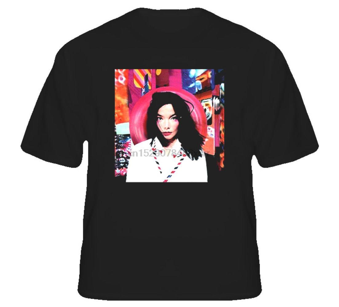 Mensaje Bjork Álbum 1995 camiseta de manga corta más el tamaño del descuento caliente nuevo envío libre superior de camiseta